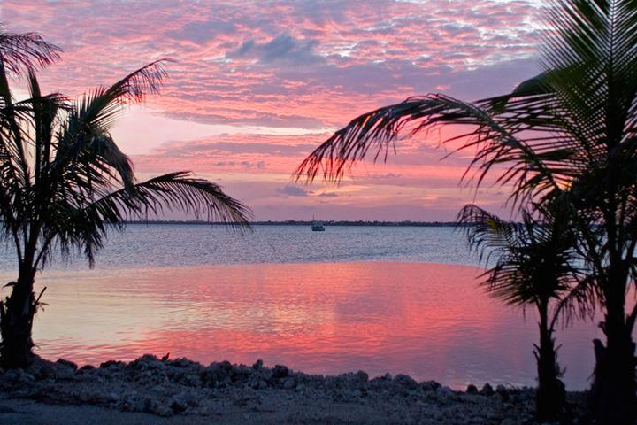 Keys Pink Sunset - Key West Images