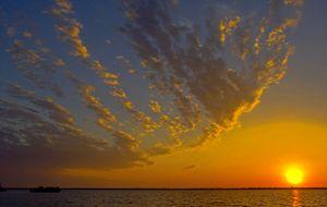 Odd Clouds at Sunset