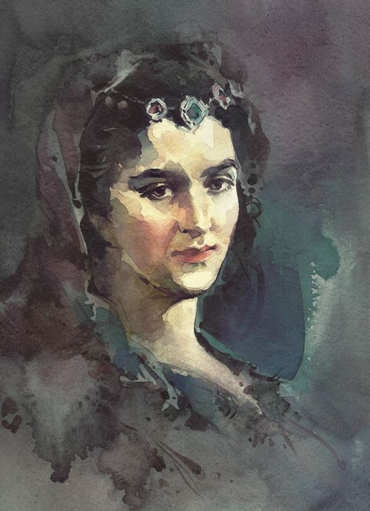 portrait of woman - Behzad
