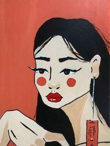 PopArt Asian Woman
