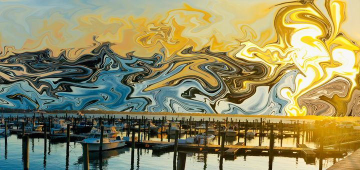 The Spirit of Harbor View Sunset - Intuography