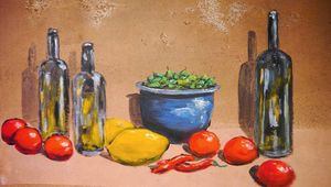 Painting with still life