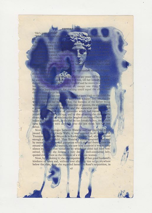 Cyanotype on Book Paper 2 - Dani Evans