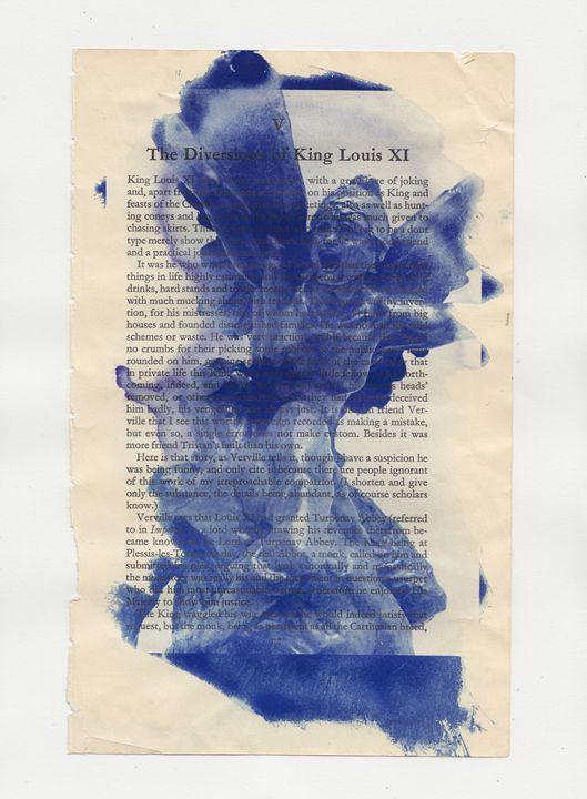 Cyanotype on Book Paper 1 - Dani Evans