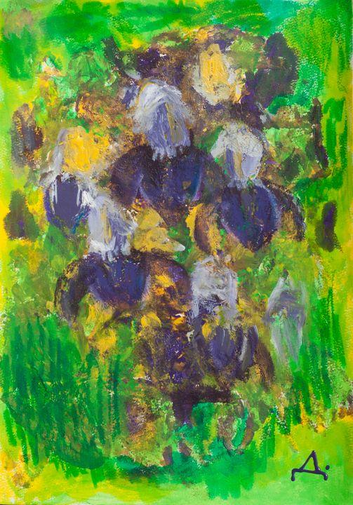 Irises - Stroke Survivor izpitanie-art- Donka