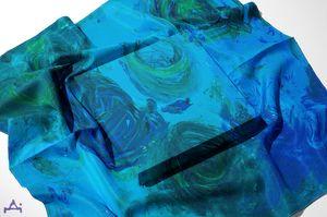 Roses in Blue - Stroke Survivor izpitanie-art- Donka