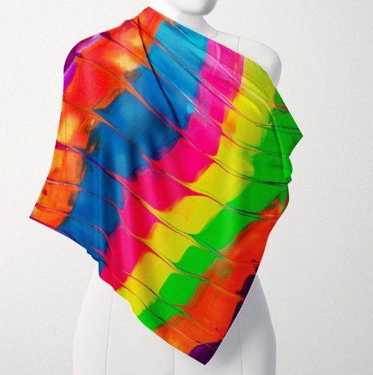 "Art scarf ""Accordion"" - Stroke Survivor izpitanie-art- Donka"