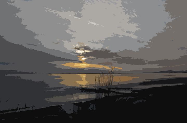 Sunset Reeds - Michael Klerck