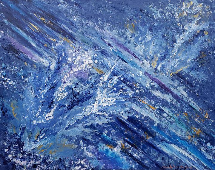 Blue splash - Cheryl Kanuck Fine Art