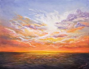 Ocean sunset - Cheryl Kanuck Fine Art