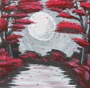 Midnight Garden (Red)