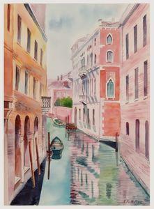 A110. Venice. Canal, houses.