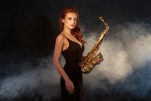 Woman with sax