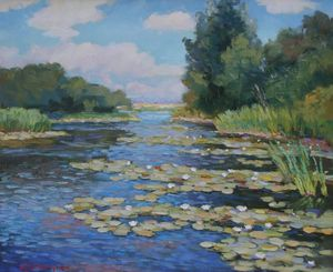 Original Sunny Day on River