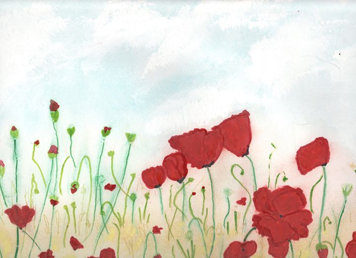 Baby Poppies - Angela's Art