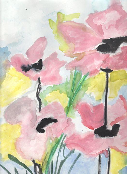 Pink Poppy - Angela's Art