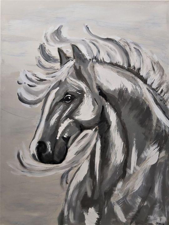 Horse at Dusk - Cher