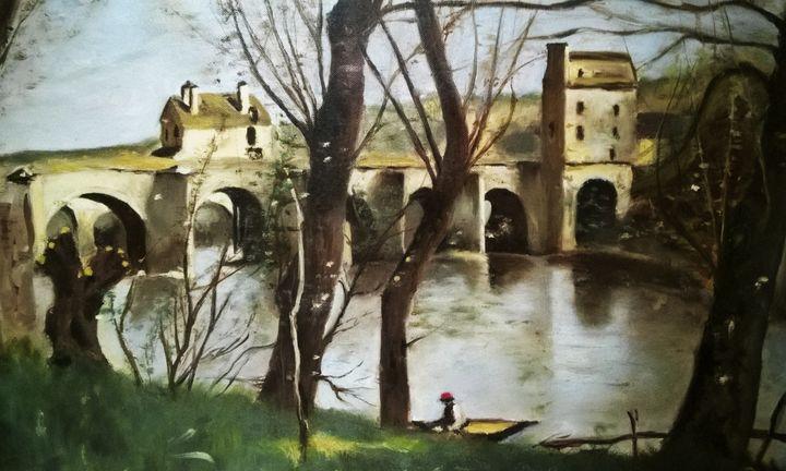 Le pont de Mantes - Gabriele Landi