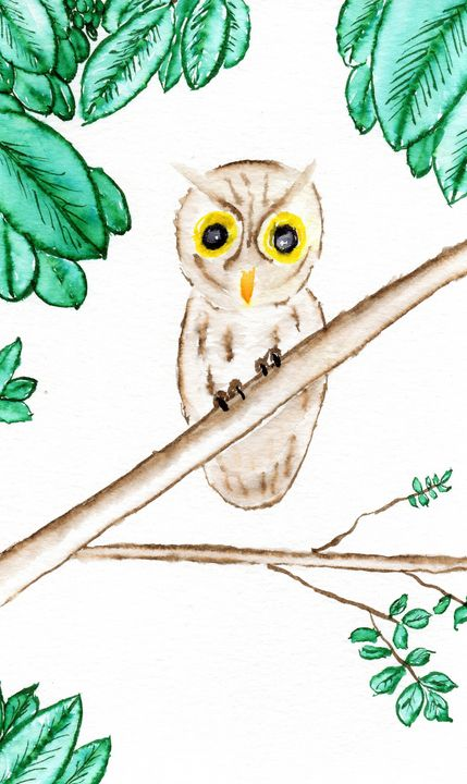 Owl In A Tree - Lock Wilford