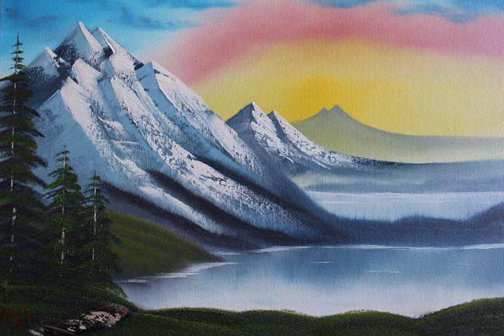 Mountainside Lake - Ashwini Biradar