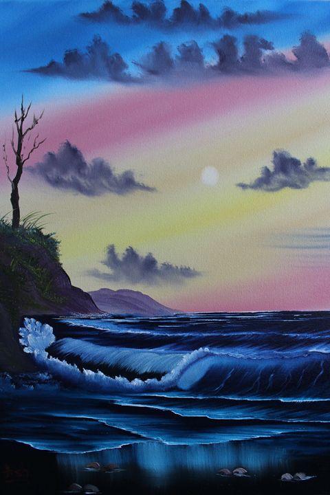 Sunset at Ocean - Ashwini Biradar