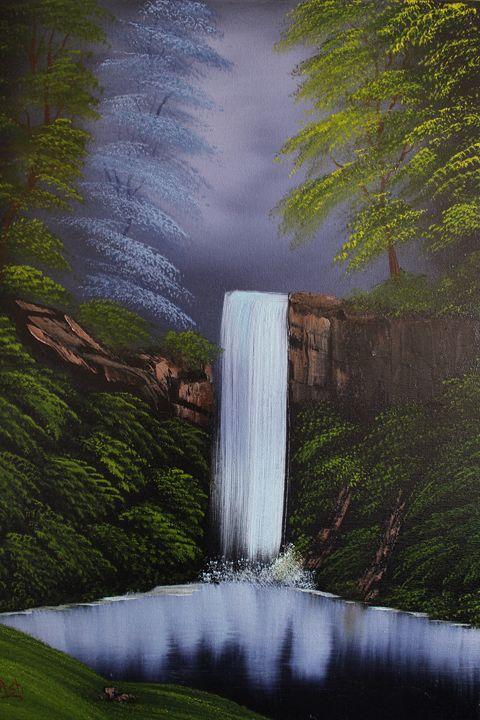 Waterfall in the Woods - Ashwini Biradar