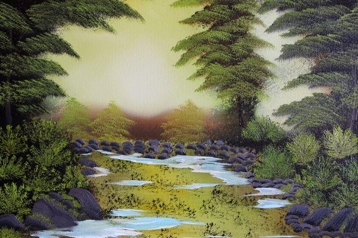Tranquil Wooded Stream - Ashwini Biradar