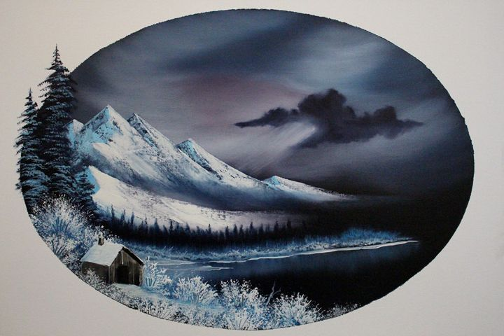 Hidden Winter Moon Oval - Ashwini Biradar