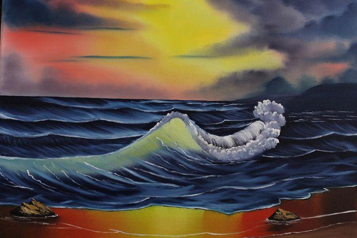 Ocean Sunset - Ashwini Biradar