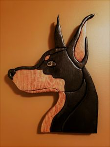Hand Made Wood Doberman Pinscher - Stacy Ann Originals