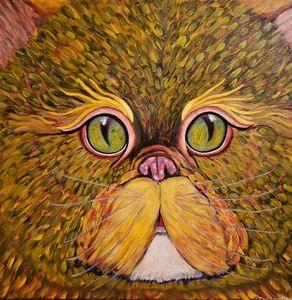 "Impressionist Cat ""My Feline Eyes"""