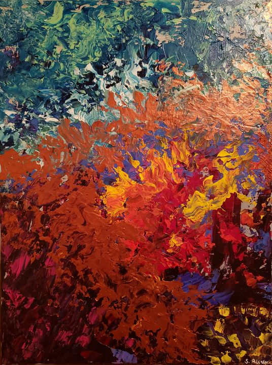 Abstract Mauna Loa Painting - Stacy Ann Originals