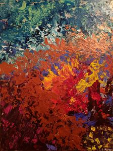 Abstract Mauna Loa Painting