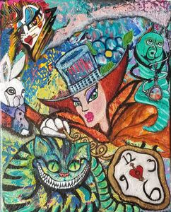 Mad Hatter Time Alice in Wonderland - Stacy Ann Originals
