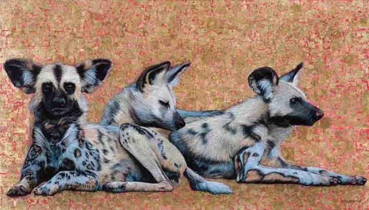 Wild Dogs at Dawn - Artist Print - Marc Alexander