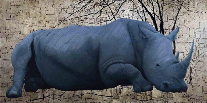 White Rhino - Artist Print - Marc Alexander