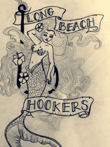 Pin up mermaid