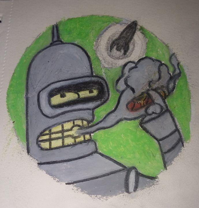 Bender smoking - cartoons