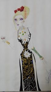 Fashion Art Lady Embroidery Painting