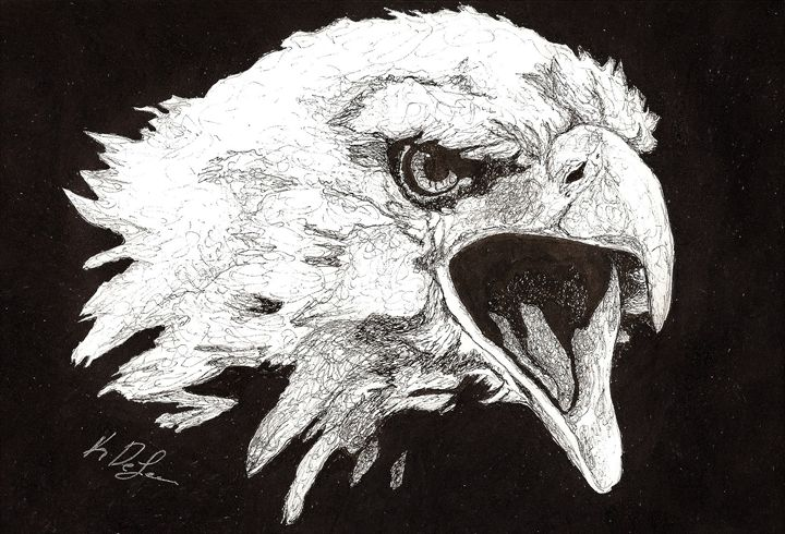 """Screaming Eagle"" - Art b K DeLeon"