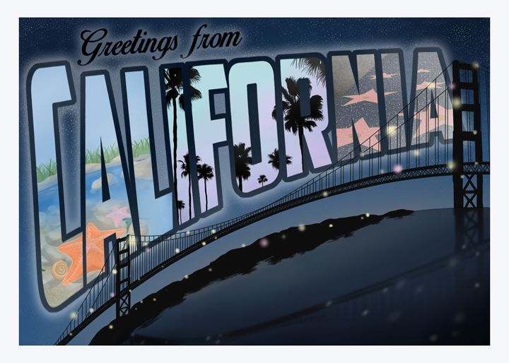 California Postcard - Mila Sypin