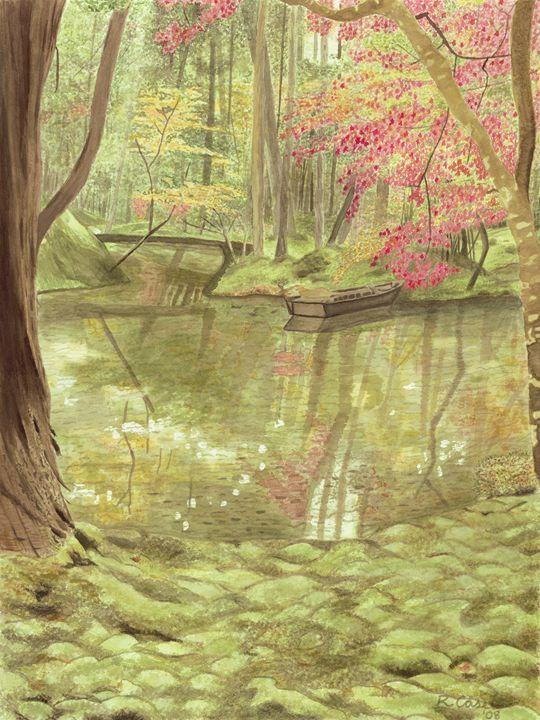 Japanese Garden - Rebecca Case Watercolors