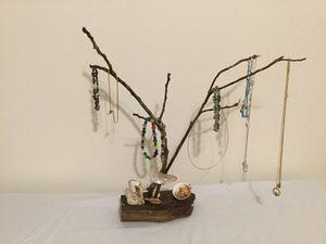 Driftwood Seashell Jewelry tree