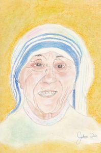Pastel Painting of Mother Teresa