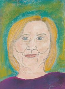 Pastel Painting of Hillary Clinton