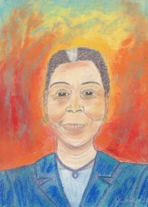 Pastel Painting of Ursula Burns