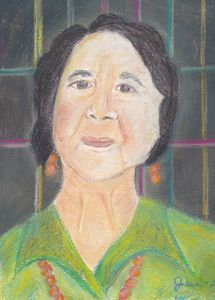 Pastel Painting of Dolores Huerta