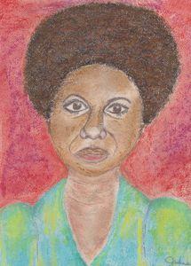Pastel Painting of Nina Simone