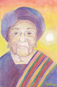 Watercolor of Ellen Johnson Sirleaf