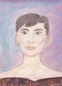 Pastel Painting of Audrey Hepburn